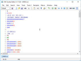 CNC Syntax Editor Screen shot